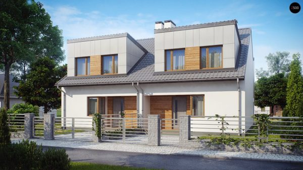 Фото 1 - Zb7 - Компактные дома близнецы в современном стиле с уютным интерьером.