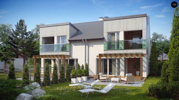 Фото 2 - Zb7 - Компактные дома близнецы в современном стиле с уютным интерьером.