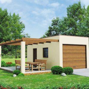 Фото 16 - Zg13 - Проект гаража для одной машины с террасой.