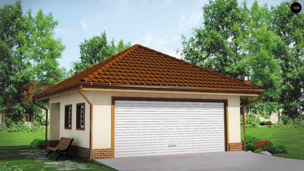 Фото 1 - Zg15 - Современный проект просторного гаража  для двух авто.