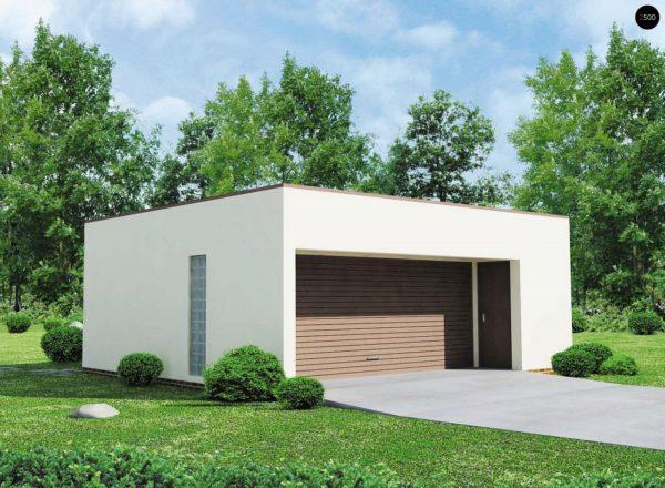 Фото 1 - Zg16 - Проект гаража в стиле хай-тек для двух машин.