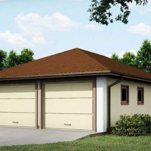 Фото 22 - Zg19 - Проект гаража для двух автомобилей для дома в классическом стиле.