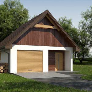 Фото 13 - Zg2 - Гараж в традиционном стиле с подсобными помещениями.