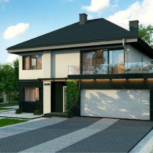 Фото 2 - Zx10 - Просторный двухэтажный дом простой формы с террасой над гаражом.