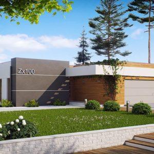 Фото 8 - Zx100 - Одноэтажный дом модернистского характера с гаражом для двух автомобилей.