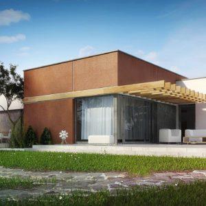 Фото 9 - Zx101 - Одноэтажный дом в стиле хай-тек с четырьмя спальнями.