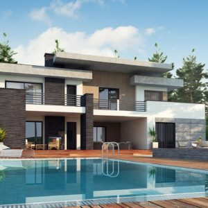 Фото 20 - Zx107 - Красивый и комфортный дом с плоской кровлей, гаражом на две машины и просторными террасами.