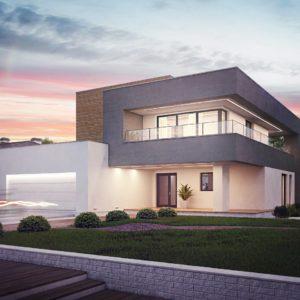 Фото 21 - Zx108 - Современный двухэтажный дом с большой площадью остекления.