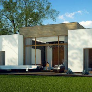 Фото 22 - Zx111 - Одноэтажный дом в стиле современного минимализма.