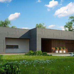 Фото 27 - Zx118 - Современный односемейный одноэтажный дом с  плоской крышей.