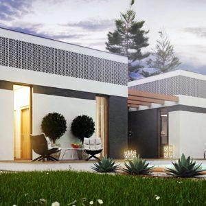 Фото 28 - Zx119 - Проект дома в современном стиле с закрытой террасой.