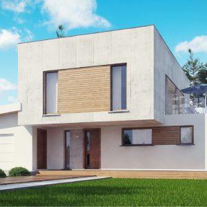 Фото 30 - Zx121 - Современный двухэтажный дом с гаражом на 1 машину и террасой.