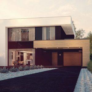 Фото 5 - Zx123 - Двухэтажный дом в строгом современном стиле, со спортивным залом на первом этаже.