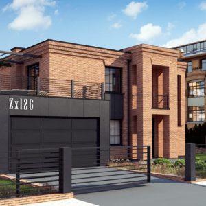 Фото 6 - Zx126 - Современный двухэтажный дом с облицовкой фасада из кирпича.