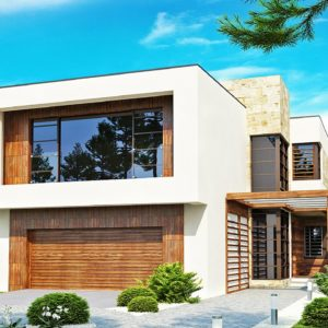 Фото 7 - Zx14 - Двухэтажный дома в стиле модерн с практичным интерьером и гаражом для двух автомобилей.