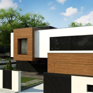 Фото 10 - Zx152 - Двухэтажный коттедж с плоской крышей и большой террасой.
