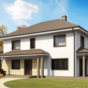 Фото 9 - Zx16 - Просторный и функциональный двухэтажный дом с многоскатной кровлей и гаражом.