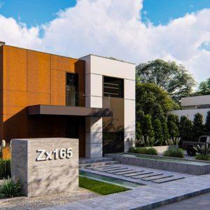 Фото 14 - Zx165 - Современный двухэтажный дом без гаража.