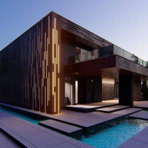 Фото 15 - Zx167 - Современный двухэтажный дом с плоской кровлей и навесом для автомобиля.