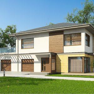 Фото 11 - Zx2 GL2 - Версия проекта двухэтажного дома Zx2 c увеличенным гаражом.