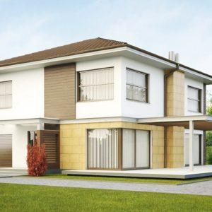 Фото 10 - Zx2 - Двухэтажный дом простой формы со вторым светом над гостиной и встроенным гаражом.