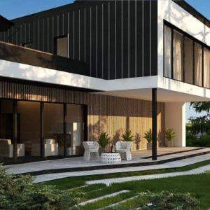 Фото 16 - Zx205 - Проект просторного двухуровневого дома с оригинальным современным экстерьером.