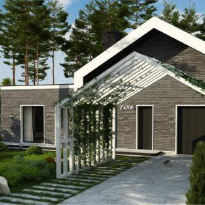 Фото 10 - Zx206 - Cовременный проект дома с оригинальным экстерьером и грамотной функциональной планировкой.