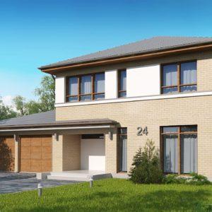 Фото 16 - Zx24 GL2 - Версия двухэтажного дома Zx24 c увеличенным гаражом для двух машин.
