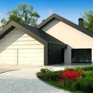 Фото 13 - Zx251 - Проект современного дома с нетипичной планировкой и привлекательным дизайном экстерьера.