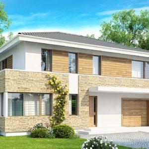 Фото 19 - Zx29 - Просторный двухэтажный дом минималистичного современного дизайна.