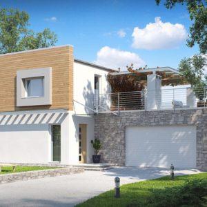 Фото 20 - Zx3 - Оригинальный дом в современном стиле с обширной террасой над гаражом.