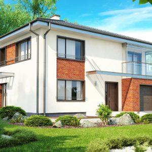 Фото 21 - Zx30 - Комфортабельный двухэтажный дом простой формы со стеклянным эркером над гаражом.