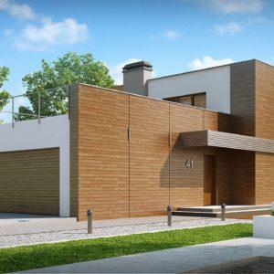 Фото 24 - Zx41 - Практичный двухэтажный дом в стиле модерн с обширной террасой над гаражом.