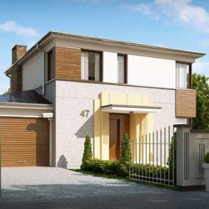 Фото 19 - Zx47 - Двухэтажный дом, сочетающий традиционные формы и современный дизайн, с тремя спальнями и гаражом.