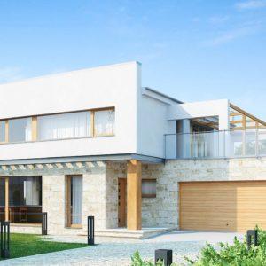 Фото 29 - Zx5 - Практичный двухэтажный дом в современном стиле с обширной террасой над гаражом.