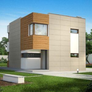 Фото 20 - Zx51 - Компактный дом в стиле современного кубизма с тремя спальнями.