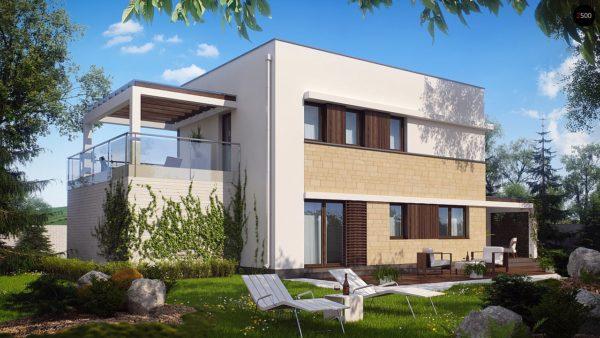 Фото 3 - Zx63 - Современный элегантный дом с гостиной с фронтальной стороны.