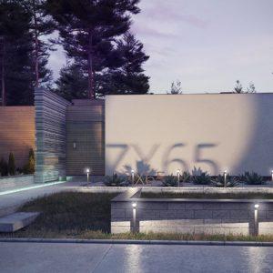 Фото 30 - Zx65 - Одноэтажный дом в стиле хай-тек с плоской кровлей и большой площадью остекления.