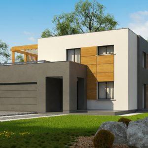 Фото 28 - Zx73 - Двухэтажный коттедж современного лаконичного дизайна.