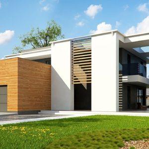 Фото 27 - Zx75 - Современный двухэтажный дом с большим остеклением и гаражом на две машины.