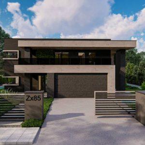 Фото 28 - Zx85 - Современный двухэтажный дом с плоской кровлей.