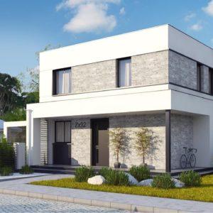 Фото 29 - Zx92 - Простой аккуратный проект двухэтажного дома с плоской кровлей.