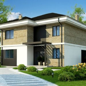 Фото 16 - Zz1 a - Двухэтажный дом с современным дизайном экстерьера и удобным интерьером.