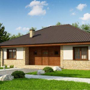 Фото 4 - Zz10 - Одноэтажный дом с 4-х скатной кровлей и уютной террасой.