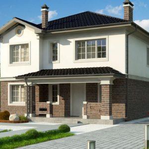Фото 13 - Zz2 L BG - Проект двухэтажного дома в классическом стиле с дополнительной спальней на первом этаже.