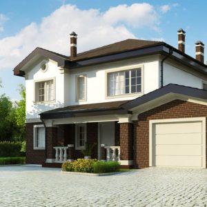 Проекты домов с гаражом на 1 автомобиль