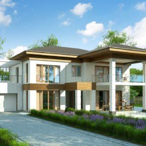 Фото 2 - Zz201 - Проект стильного и просторного дома с элементами классической архитектуры.