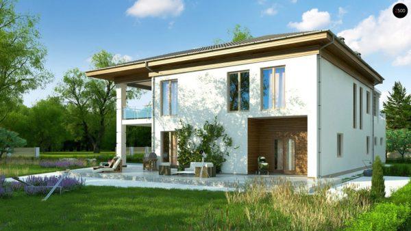 Фото 3 - Zz201 - Проект стильного и просторного дома с элементами классической архитектуры.