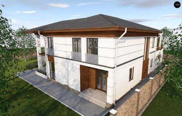 Фото 5 - Zz201 - Проект стильного и просторного дома с элементами классической архитектуры.