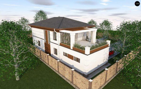 Фото 6 - Zz201 - Проект стильного и просторного дома с элементами классической архитектуры.